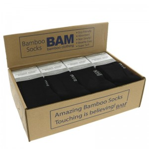 Bamboo Socks Black Adult Size 8-11 x one pair