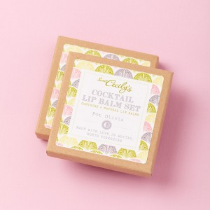 Sweet Cecily's Cocktail Lip Balm Set