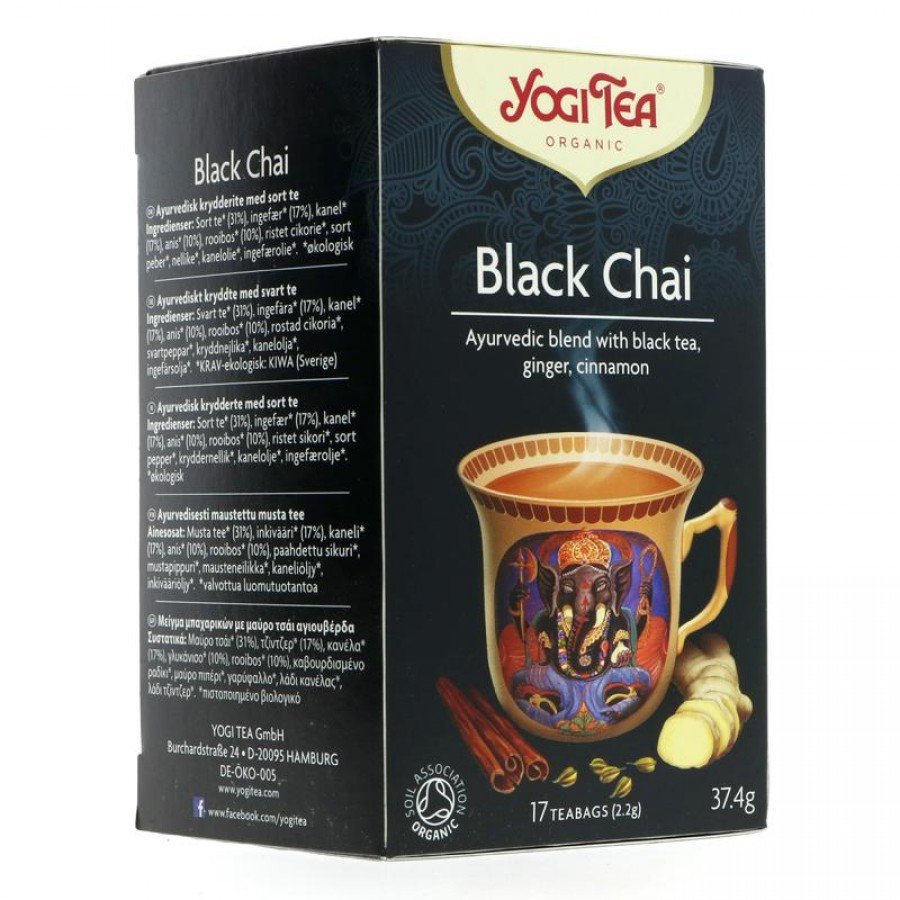 Yogi Black Chai Tea 17 bags