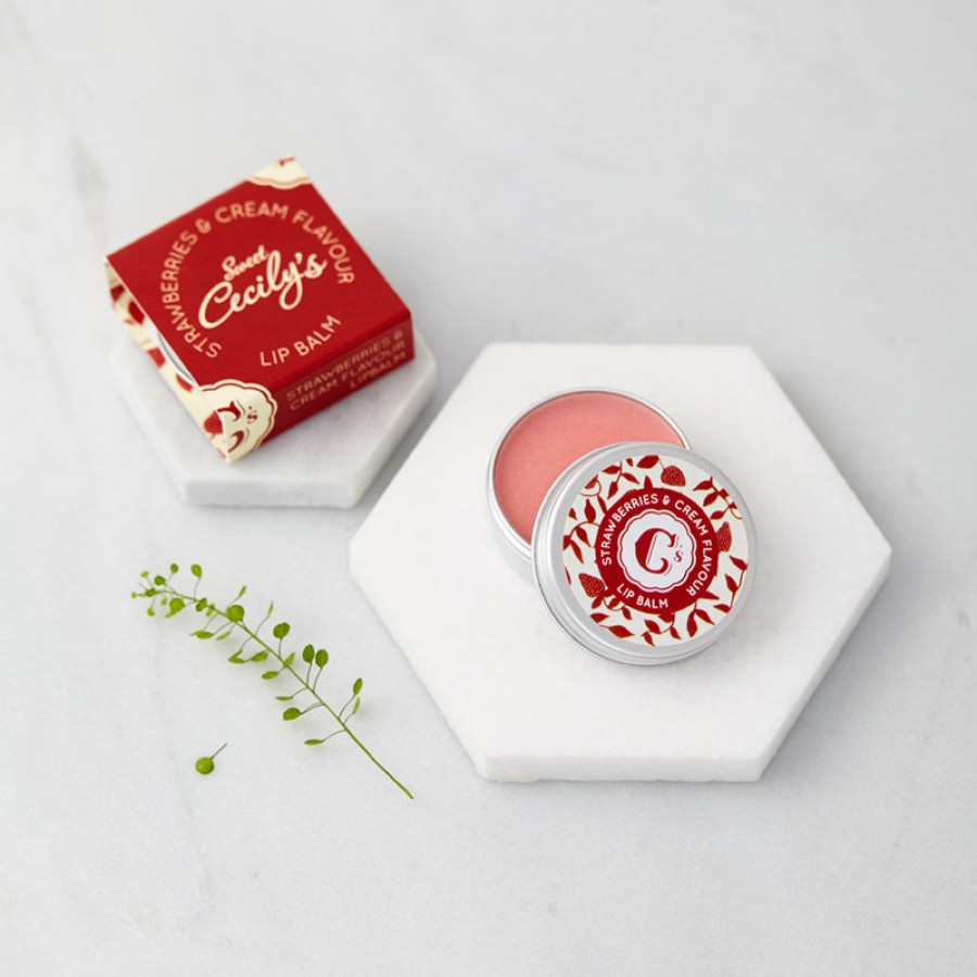 Sweet Cecily's Strawberries And Cream Lip Balm
